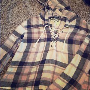 Cute, soft, comfy plaid pullover.